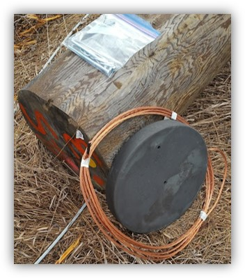 A ConduDisc next to a utility pole