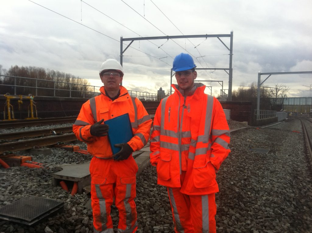 Two members of Earthing Services technical services team