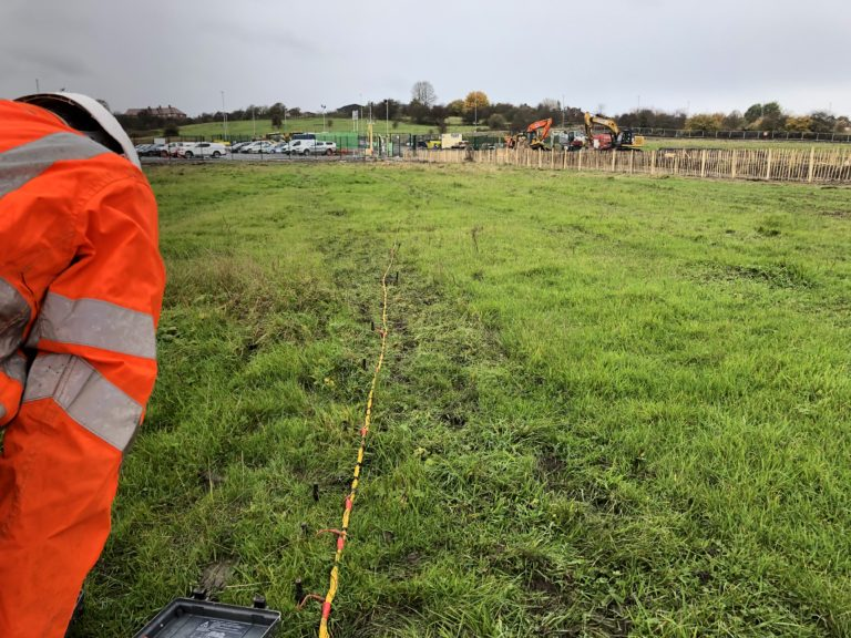 Earthing Services Engineer doing a soil resistivity survey